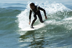 surfing wet suit