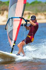 windsurfer wearing a wetsuit